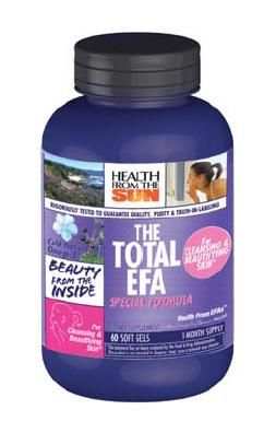 DROPPED: Health From The Sun - Total EFA Cleansing & Beautifying Skin Pearls - 60 Softgels