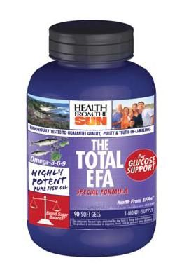 DROPPED: Health From The Sun - Total EFA for Glucose Support - 90 Softgels