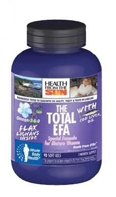 DROPPED: Health From The Sun - Total EFA for Mature Women with Cod Liver Oil - 90 Softgels