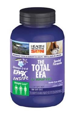 DROPPED: Health From The Sun - Total EFA for Weight Loss - 120 Softgels