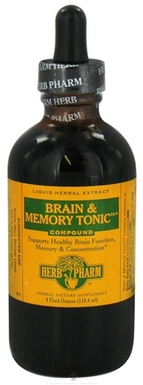 DROPPED: Herb Pharm - Brain & Memory Tonic Compound - 4 oz. Formerly Gotu Kola, Ginkgo CLEARANCED PRICED