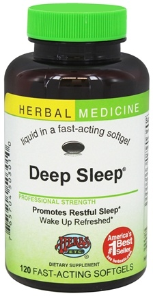 Herbs Etc - Deep Sleep Alcohol Free - 120 Softgels Contains California Poppy
