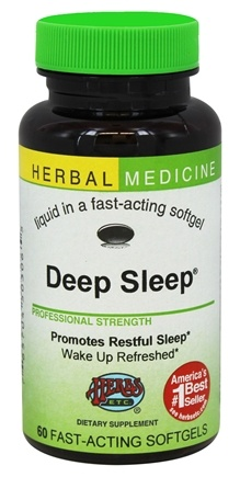 Herbs Etc - Deep Sleep Alcohol Free - 60 Softgels Contains California Poppy