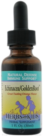 DROPPED: Herbs for Kids - Echinacea/GoldenRoot Blend Orange Flavor - 1 oz.