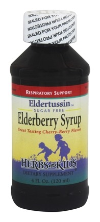Herbs for Kids - Eldertussin Elderberry Syrup - 4 oz.