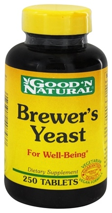 DROPPED: Good 'N Natural - Brewer's Yeast - 250 Tablets Formerly 7 1/2 Grain
