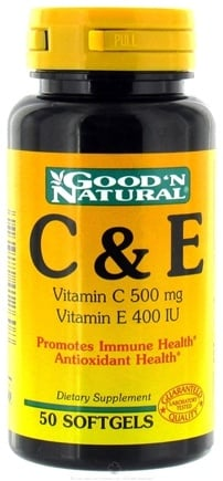 DROPPED: Good 'N Natural - C & E With Rose Hips(C 500 Mg E 400 I.U.) - 50 Softgels