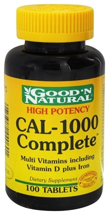DROPPED: Good 'N Natural - CAL-1000 Complete Calcium and Multivitamins plus Iron - 100 Tablets