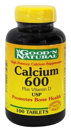 Good 'N Natural - Calcium 600 plus Vitamin D 125 IU - 100 Tablets
