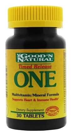 Good 'N Natural - One Long Acting Multiple Vitamin and Mineral Supplement Time Release - 30 Tablets