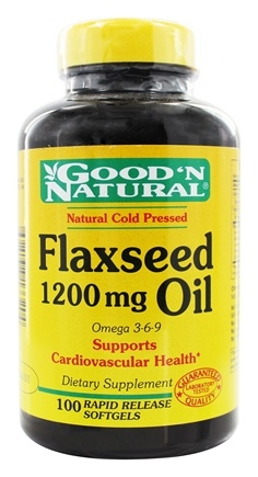 Good 'N Natural - Organic Flaxseed Oil Omega 3-6-9 1200 mg. - 100 Softgels