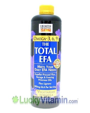 DROPPED: Health From The Sun - Total EFA Organic Lignan Vegetarian Formula CLEARANCE PRICED - 16 oz.