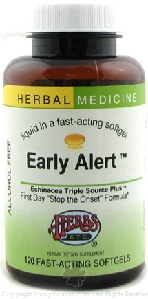 DROPPED: Herbs Etc - Early Alert ( Echinacea Triple Source Plus) - 120 Softgels