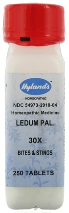 DROPPED: Hylands - Ledum Palustre 30 X - 250 Tablets CLEARANCE PRICED