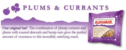 DROPPED: Gertrude & Bronner's Magic AlpSnack - Organic Hemp Bar Plum & Currants - 1.5 oz.