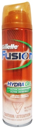 DROPPED: Gillette - Fusion HydraGel Ultra Senstive Shave Gel - 7 oz. CLEARANCE PRICED