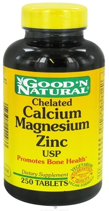 Good 'N Natural - Chelated Calcium-Magnesium-Zinc - 250 Tablets
