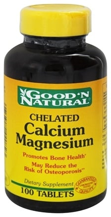 DROPPED: Good 'N Natural - Chelated Calcium-Magnesium - 100 Tablets