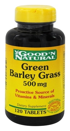 DROPPED: Good 'N Natural - Green Barley Grass 500 mg. - 120 Tablets