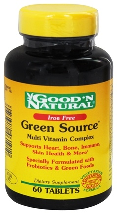 Good 'N Natural - Green Source Iron Free - 60 Tablets