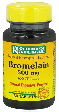 DROPPED: Good 'N Natural - Pineapple Enzyme Bromelain 500 mg. - 60 Tablets