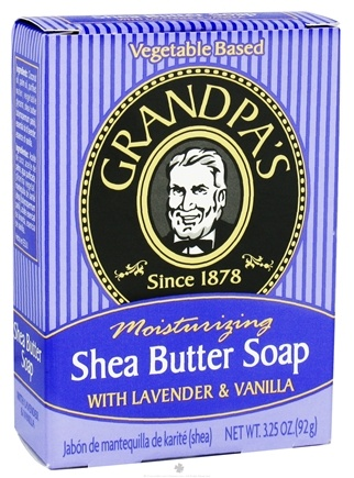 Grandpa's Soap Co. - Moisturizing Shea Butter Soap with Lavender & Vanilla - 3.25 oz.