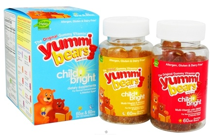 DROPPED: Hero Nutritionals Products - Yummi Bears Child Bright - 120 Gummies CLEARANCE PRICED