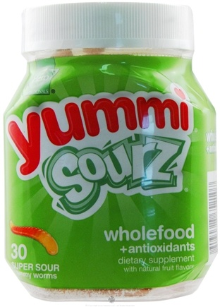 DROPPED: Hero Nutritionals Products - Yummi Sourz Super Sour Wholefood & Antioxidants Gummy Worms