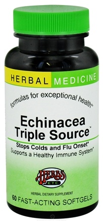 DROPPED: Herbs Etc - Echinacea Triple Source Alcohol Free - 60 Softgels CLEARANCE PRICED