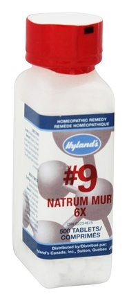 Hylands - Cell Salts #9 Natrum Muriaticum 6 X - 500 Tablets