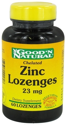 DROPPED: Good 'N Natural - Chelated Zinc Lozenges 23 mg. - 60 Lozenges CLEARANCE PRICED