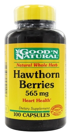 DROPPED: Good 'N Natural - Hawthorn Berries 565 mg. - 100 Capsules