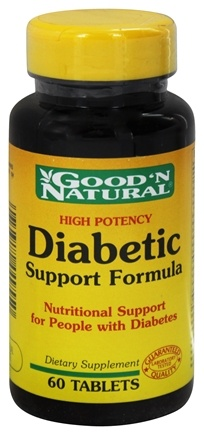 Good 'N Natural - High Potency Diabetic Support Formula - 60 Tablets