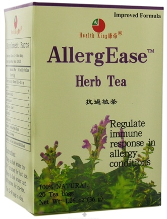 DROPPED: Health King - Allergease Herb Tea - 20 Tea Bags CLEARANCE PRICED