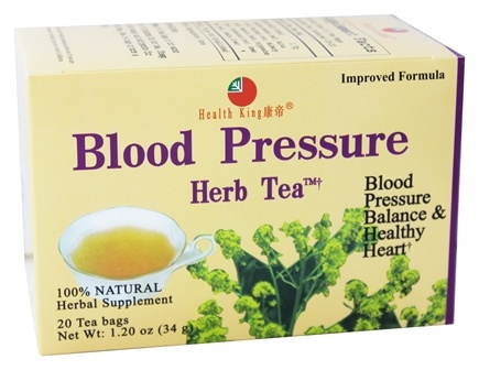 Health King - Blood Pressure Herb Tea - 20 Tea Bags