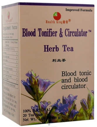 DROPPED: Health King - Blood Tonifier & Circulator Herb Tea - 20 Tea Bags