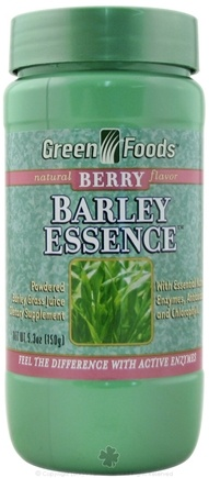 DROPPED: Green Foods - Barley Essence Berry Flavor - 5.3 oz. CLEARANCE PRICED