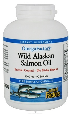 DROPPED: Natural Factors - OmegaFactors Wild Alaskan Salmon Oil 1000 mg. - 90 Softgels CLEARANCE PRICED