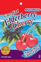 DROPPED: Nature's Answer - Cape Cod Herbal Drops Elderberry Cherry - 20 Lozenges