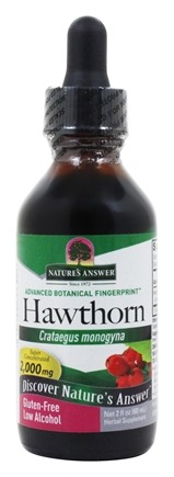 Nature's Answer - Hawthorn Berry, Leaf & Flower Organic Alcohol - 2 oz.