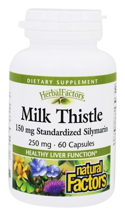 Natural Factors - Milk Thistle Extract 250 mg. - 60 Capsules