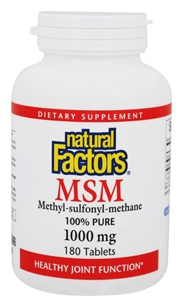 Natural Factors - MSM (Methyl-sulfonyl-methane) 1000 mg. - 180 Tablets
