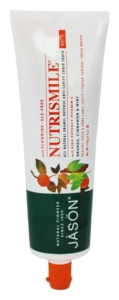 Jason Natural Products - Tooth Gel Nutrismile All Natural Enamel Defense Anti-Cavity CoQ10 with Fluoride Orange, Cinnamon & Mint - 6 oz.