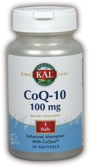 DROPPED: Kal - CoQ-10 100 mg. - 30 Softgels