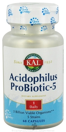 DROPPED: Kal - Acidophilus Probiotic- 5 - 60 Capsules CLEARANCED PRICED