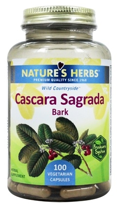 Nature's Herbs - Cascara Sagrada 900 mg. - 100 Capsules