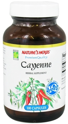 DROPPED: Nature's Herbs - Cayenne - 100 Capsules CLEARANCE PRICED