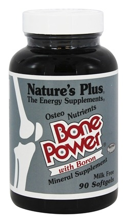 DROPPED: Nature's Plus - Osteo Nutrients Bone Power Calcium with Boron - 90 Softgels