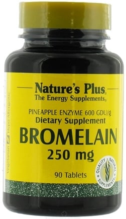 DROPPED: Nature's Plus - Bromelain 250 mg. - 90 Tablets
