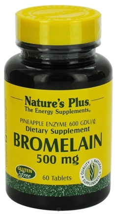 DROPPED: Nature's Plus - Bromelain 500 mg. - 60 Tablets